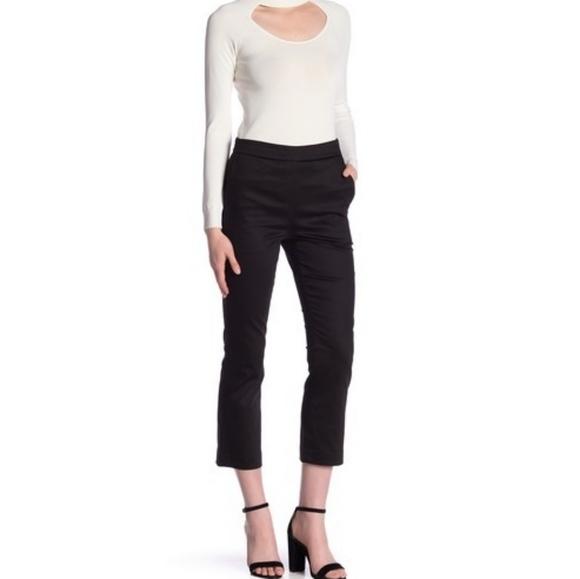 Frame Denim Pants - Frame high waist flared capri trousers black pants